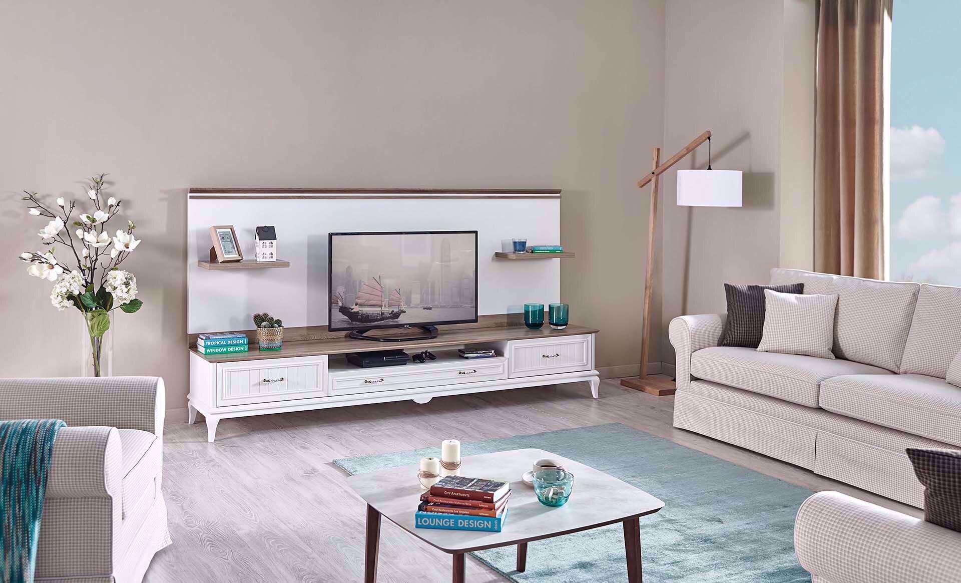 Angelic Tv Arka Pano Ve Raf (250 Cm)