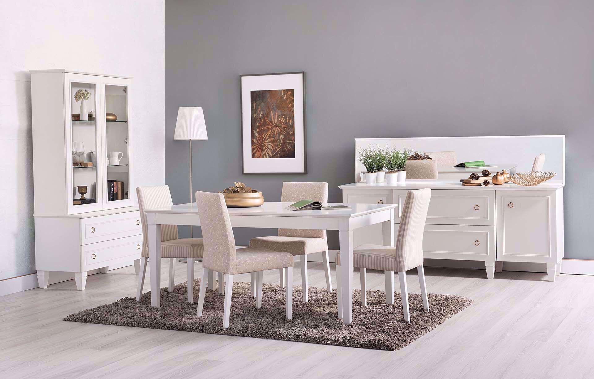 Cara Dining Room Set (White)