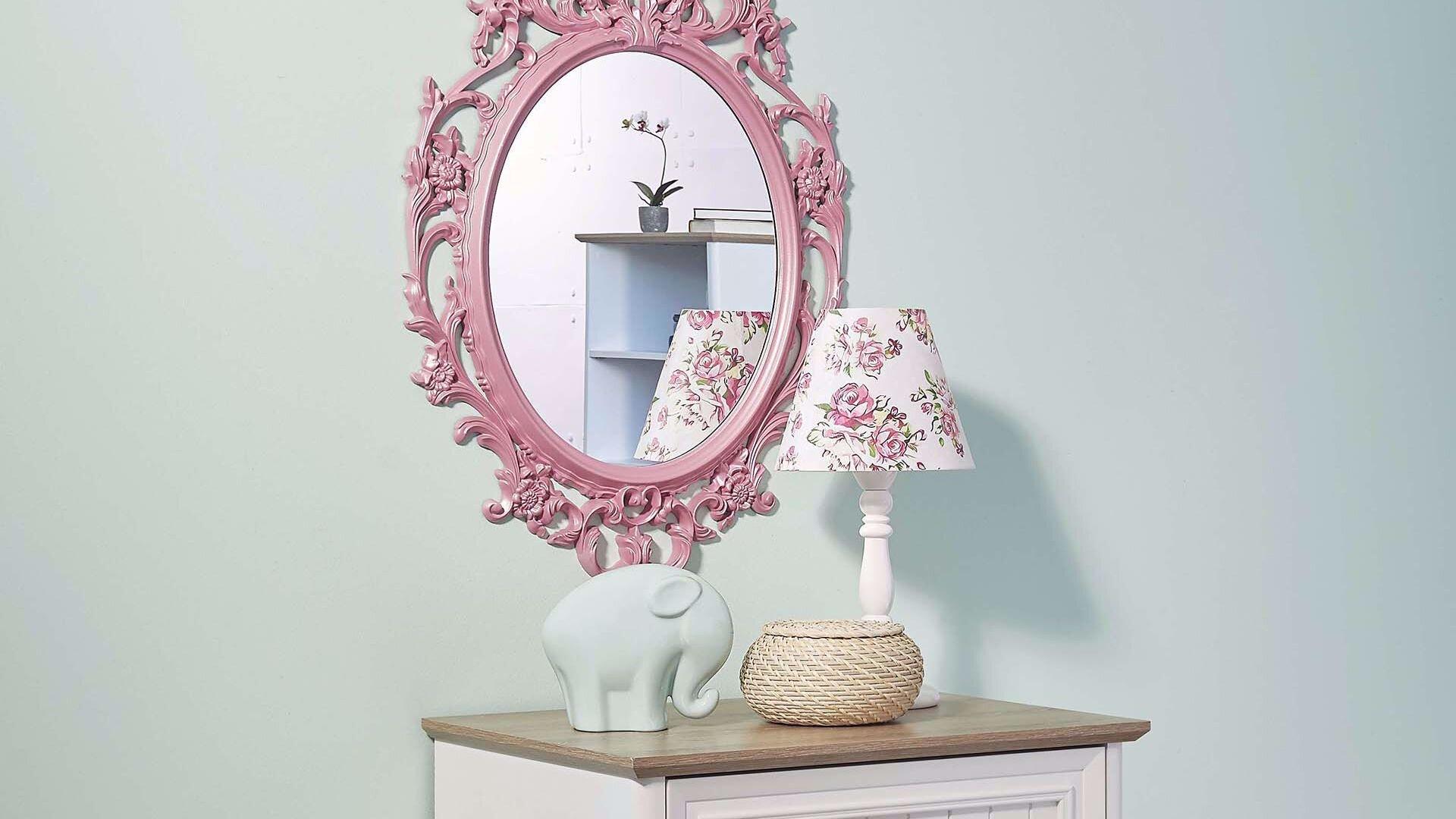 Angelic Şifonyer Ayna (Pembe)