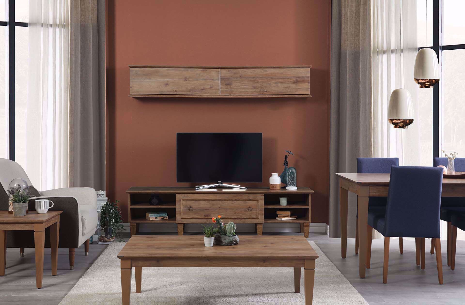 Cara Tv Bottom Module (193 Cm) (Amalfi Walnut)