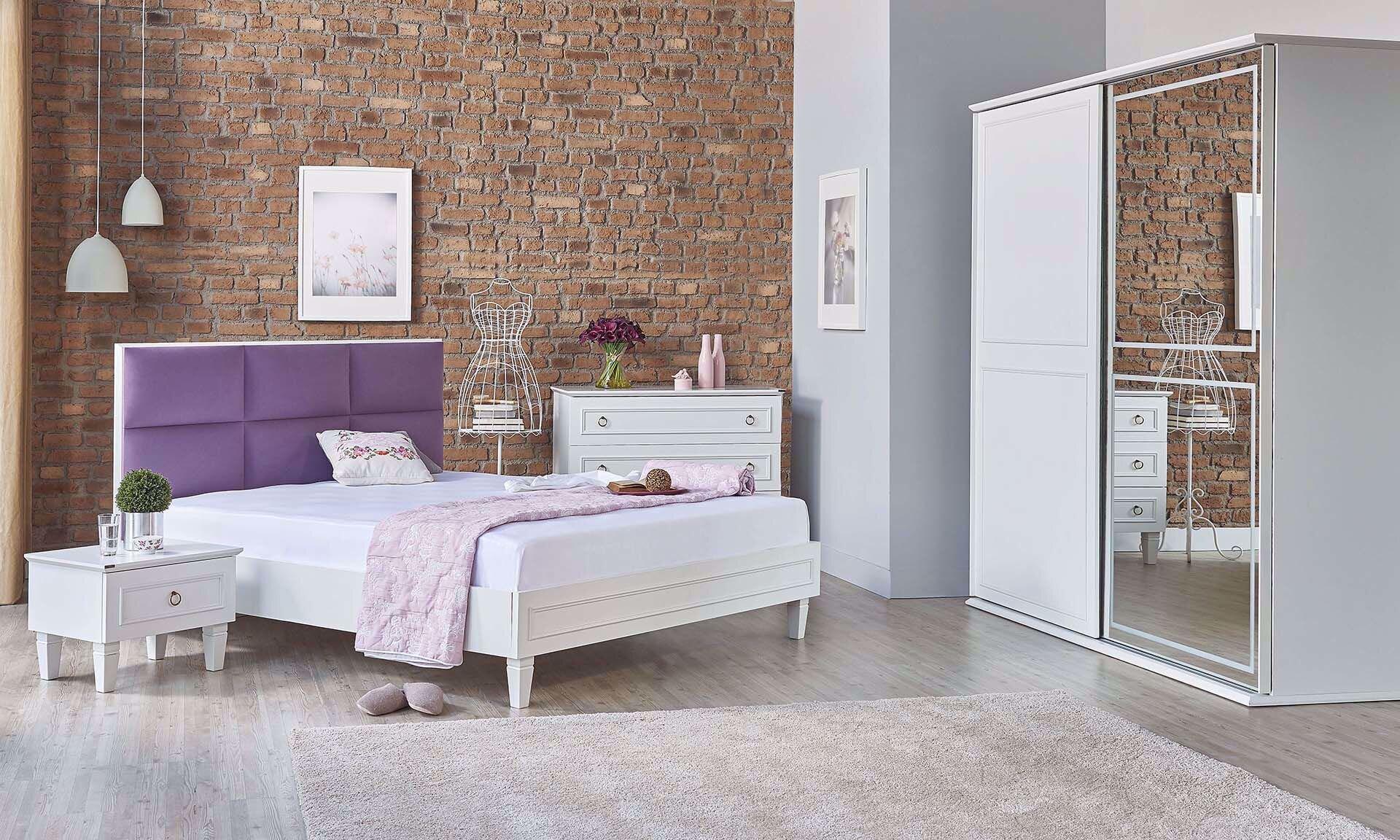 Cara Bedroom Set (White)