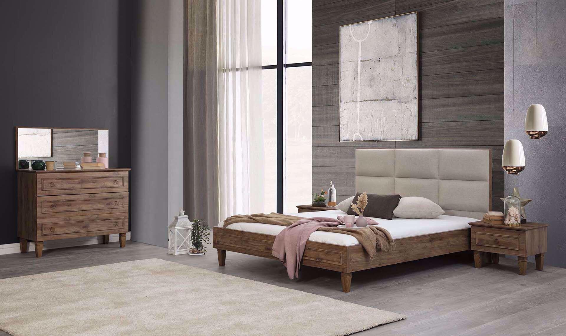 Cara Bedstead 180*200cm (Incl. Headboard) (Amalfi Walnut)