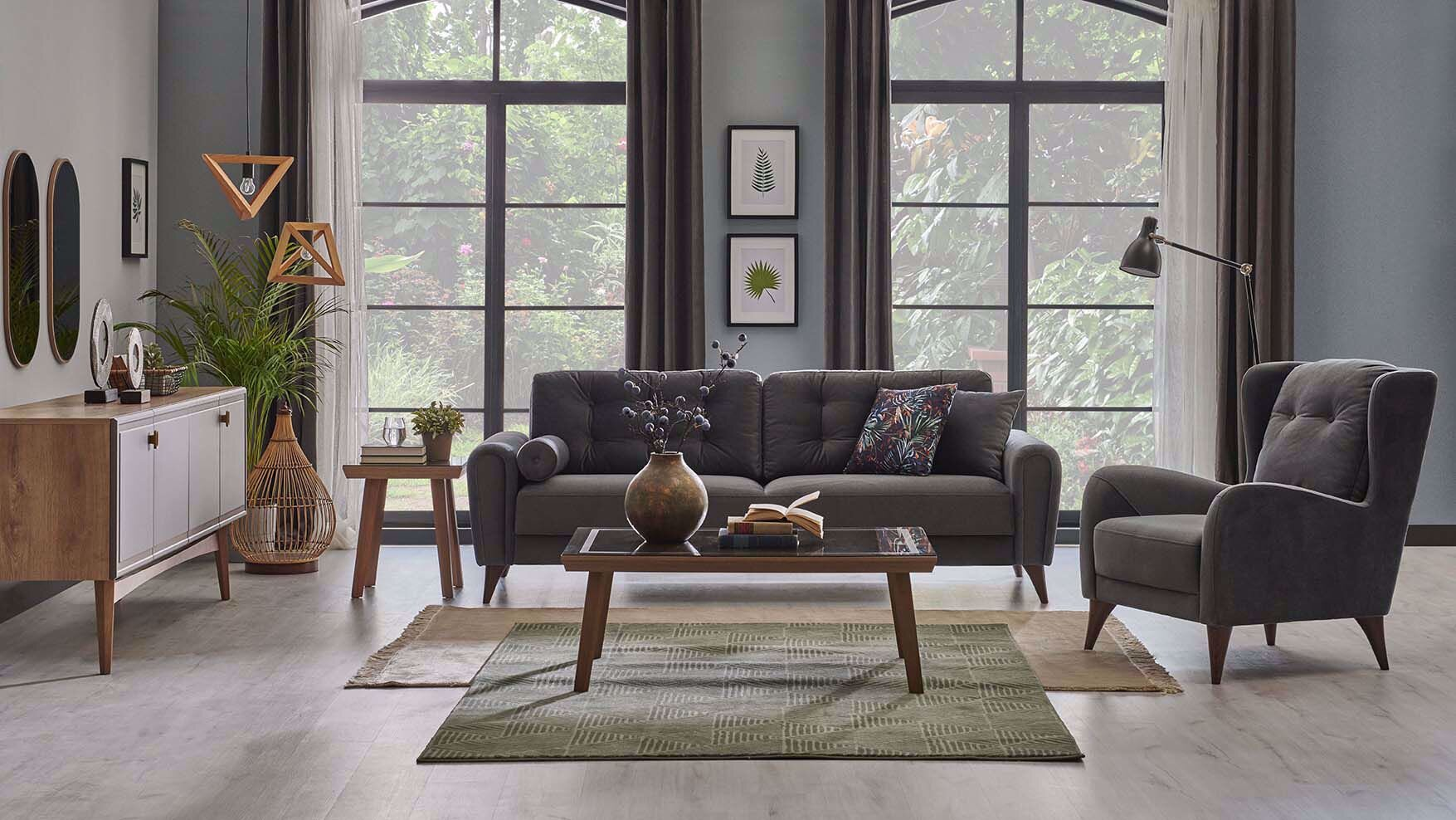 Valen Three-Seat Sofa (Doubles as Bed)