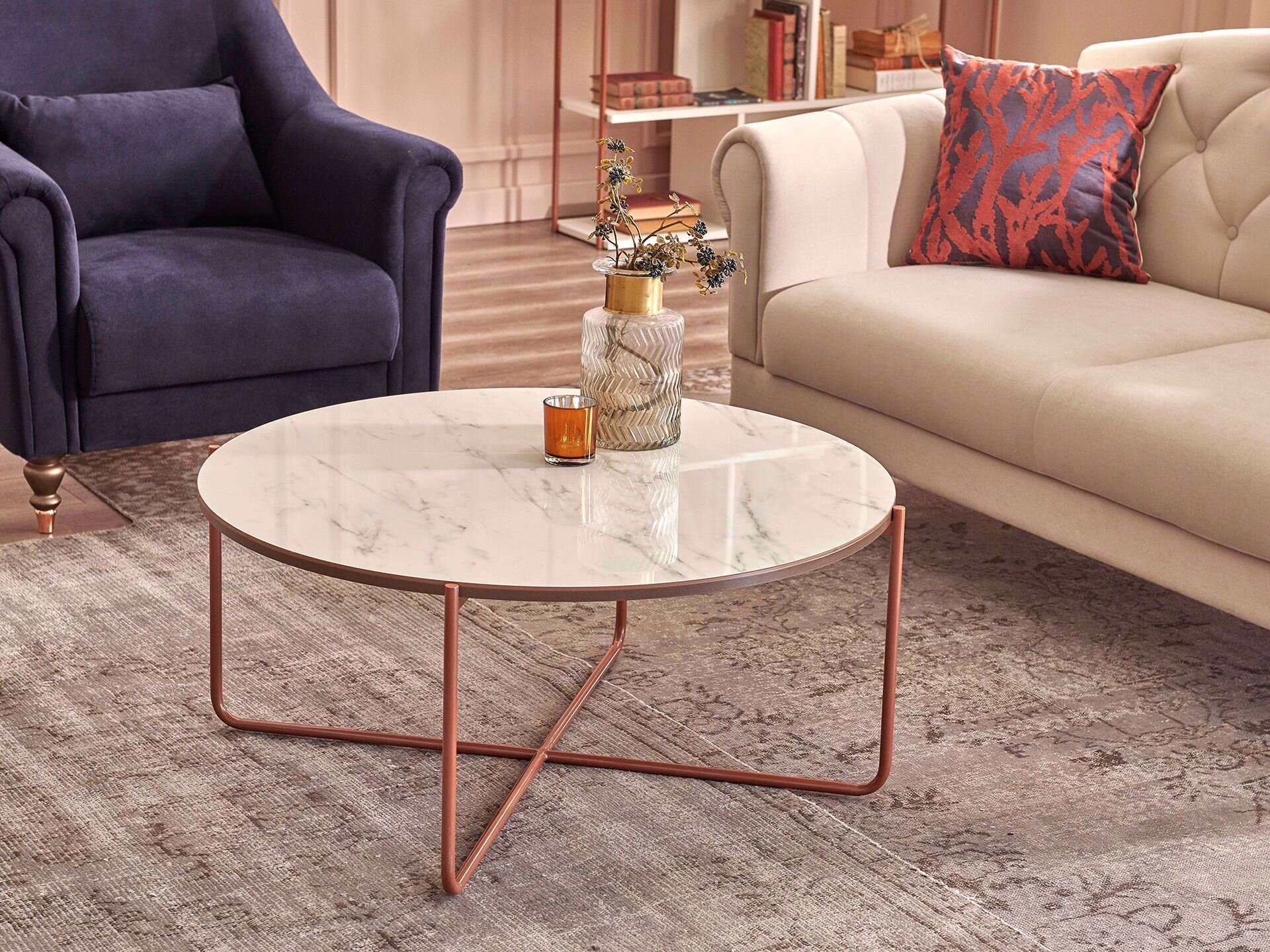 Coffee Table (with Metal Legs)