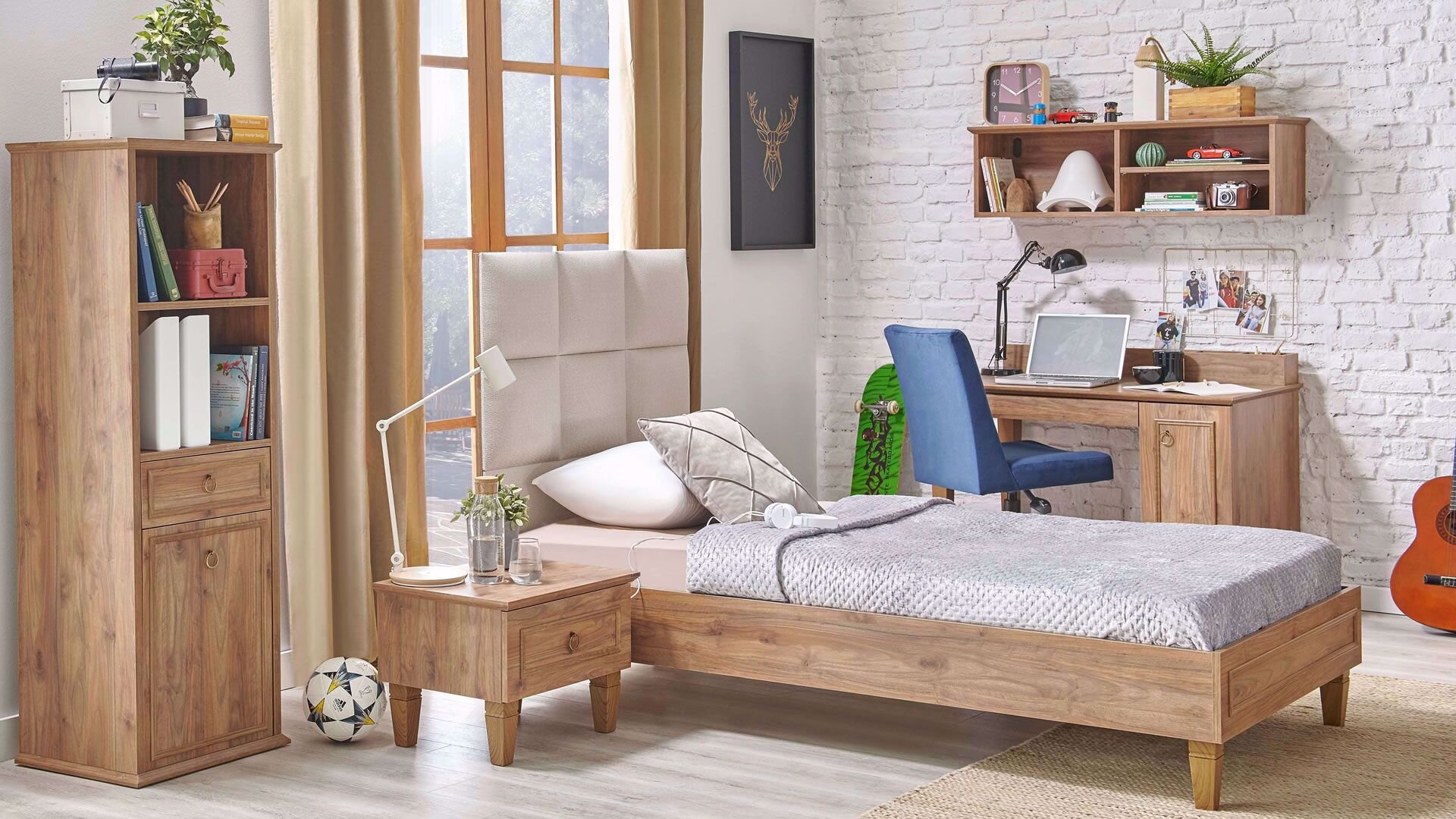 Cara Bedstead 100 cm (With Storage) (Headboard Included)