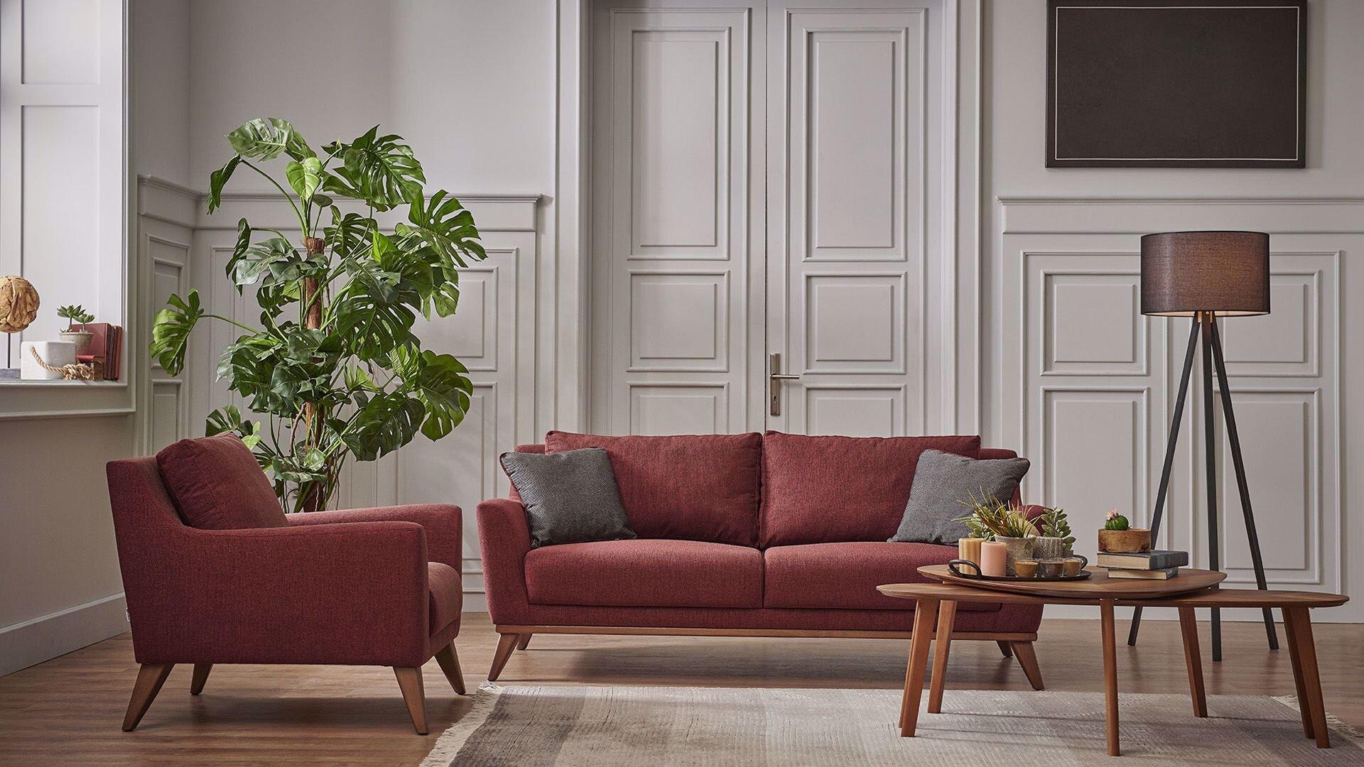 Lydia Three-Seat Sofa