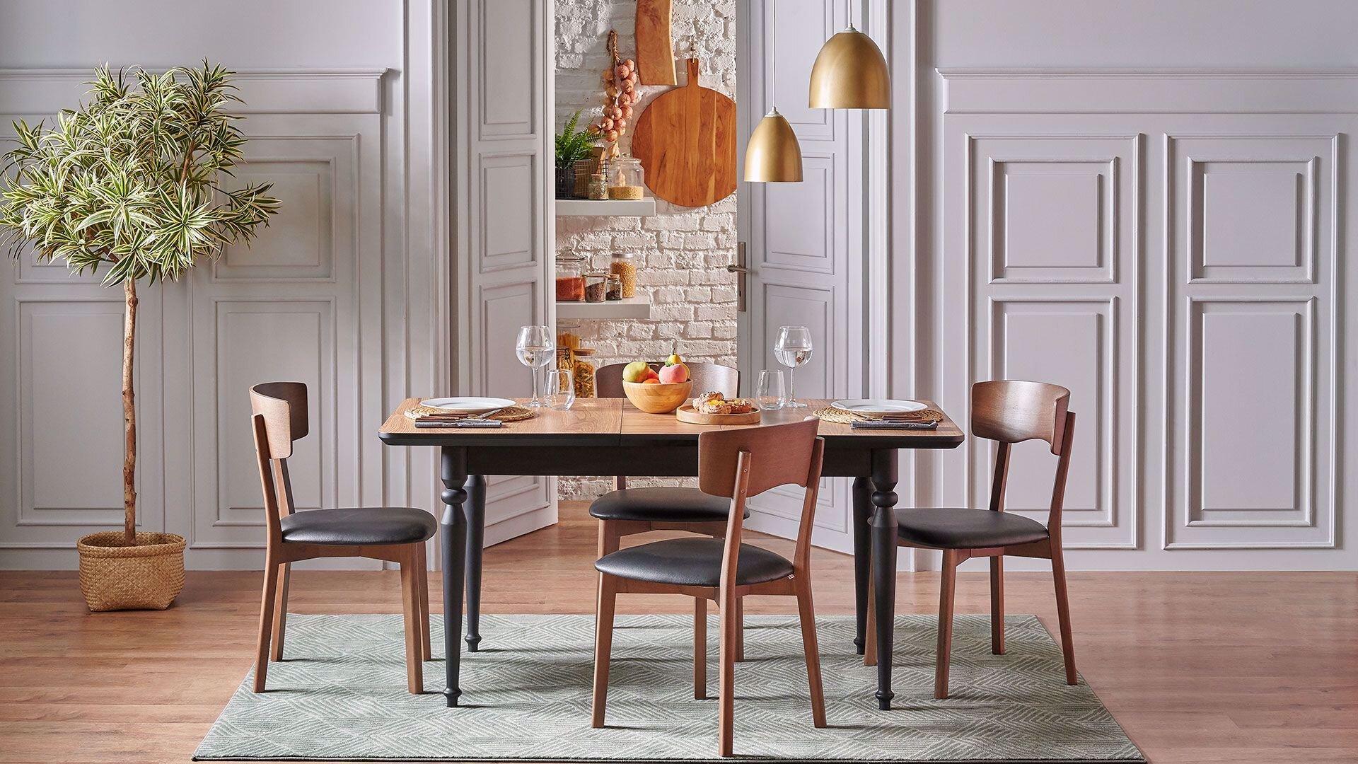 Malvi Mutfak Masa ve Sandalyeleri