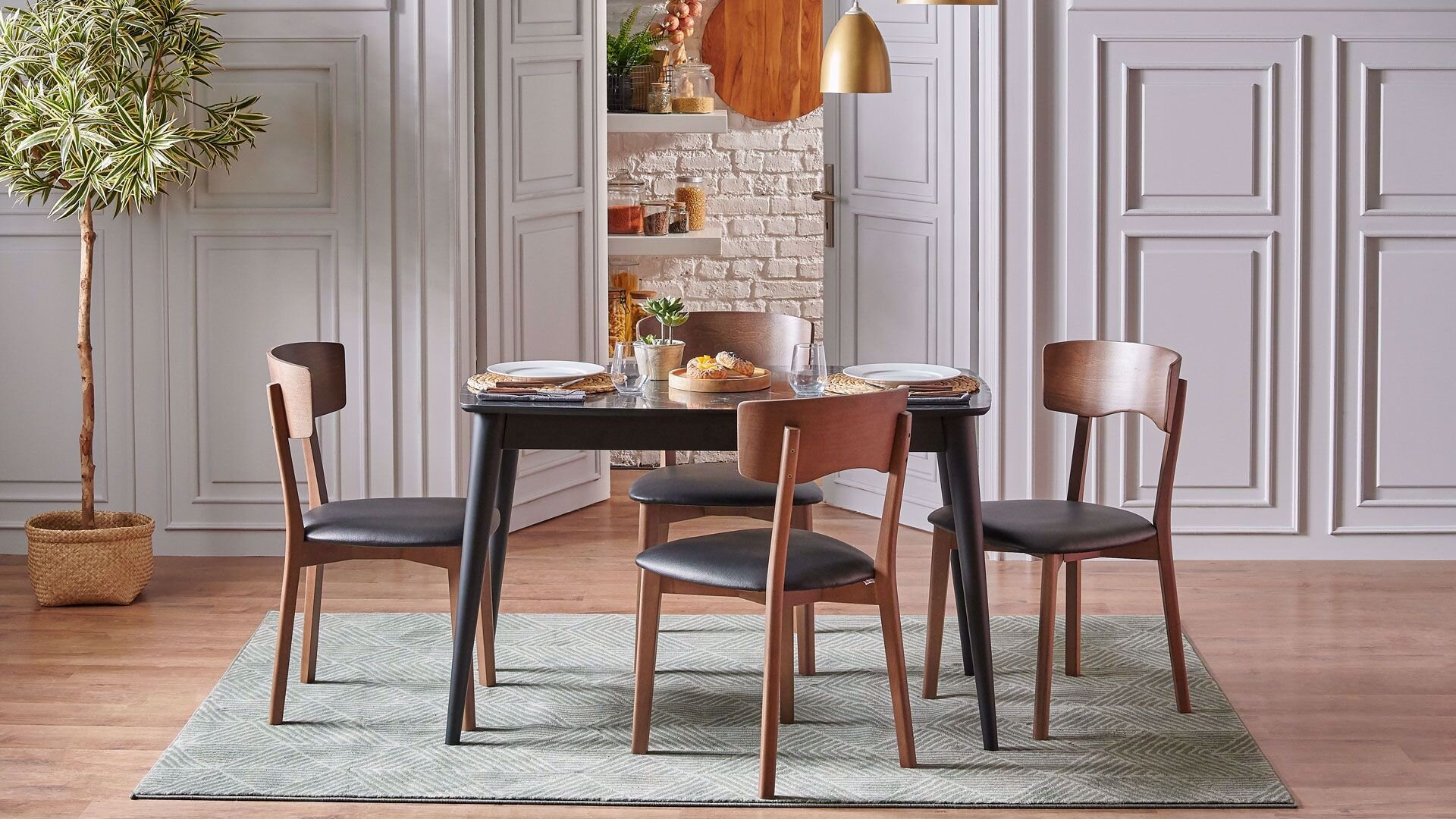 Pedra Mutfak Masa Ve Sandalyeleri
