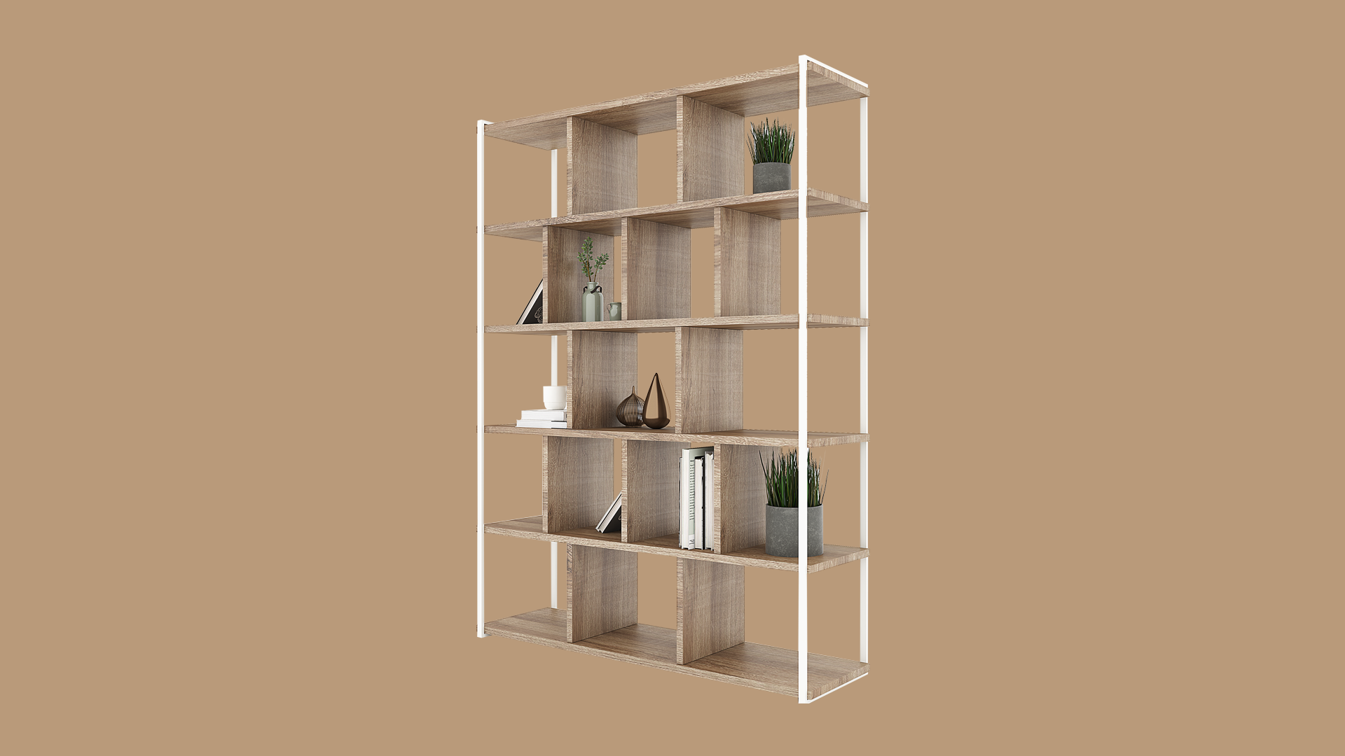 Rubi Bookcase (Natural Oak)