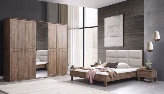 Cara Bedstead 160*200 Cm (Headboard Included) (Amalfi Walnut)
