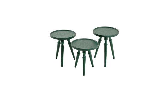 Rado 3'Lü Zigon Sehpa (Yeşil)